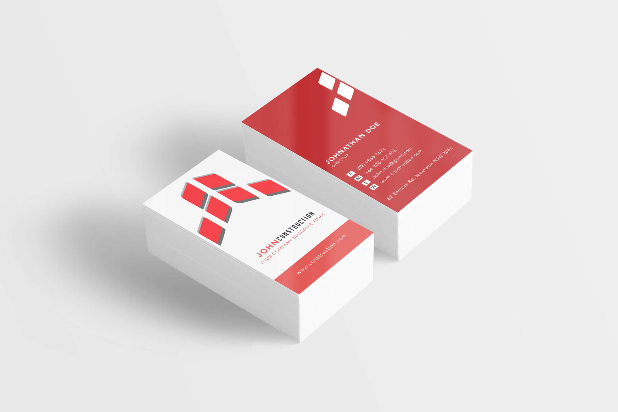 business card template – q printing sydney